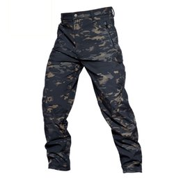 5e02e39129e70 Shanghai Story TAD Shark Skin Waterproof Windproof Outdoor Hiking Climbing  Camouflage Hunting Pants Men Fleece Trousers Military Army Pant