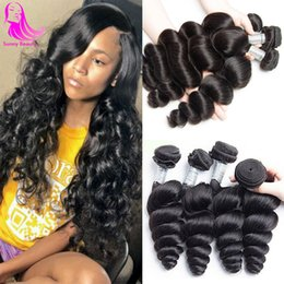 best curly bundle hair Canada - Vietnames Loose Deep Wave 3 Bundles Human Hairs 4pcs Unprocessed Remy Mink Loose Curly Hair Extensions Weave unice queen doheroine best