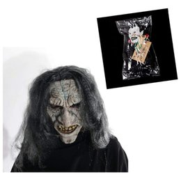 $enCountryForm.capitalKeyWord NZ - H&D 2pcs Devil Scary Face Mask for Cosplay Latex Mask With Pendant Horror Adult Ghost Halloween Theater Props Party Decoration