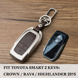 $enCountryForm.capitalKeyWord Australia - 2018 2key buttons Car Key Case For Toyota Highlander Land Cruiser Riez RAV4 Camry Prado Auto Key Cover Scratches Protector