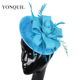 occasion hats UK - New arrival weddding fascinator base with feather adorn hat wedding headdress hair band ladies Occasion headpiece DIY hair accessories craft