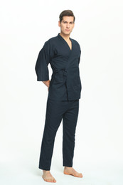 Japanese kimonos online shopping - 100 Cotton Japanese Pajamas Mens Pajamas for Men Pijamas Hombre Men Pijama Cotton Men s Pajamas Kimono