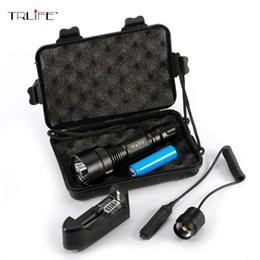 C8 Cree xm l t6 online shopping - C8 Tactical Hunting Light Cree Xm l T6 L2 Led lm Modes Battery Flashlight Pressure Switch for Hunting Fishing