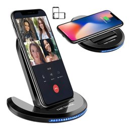 Discount foldable charger - 2-in-1 Foldable Qi Wireless Charger Fast Charging Pad Stand For Apple iPhone X 8 8 Plus Samsung Galaxy LG Android Qi-Ena