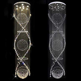$enCountryForm.capitalKeyWord Australia - Staircase 3 Sphere and 2 Spiral Rain Drop Clear LED K9 Modern Crystal Chandelier Light Lighting Fixture for Staircase