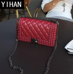 b04fd544448 Factory independent brand female bag summer new style tungsten gold lock  female jelly bag classic small fragrant wind matte fashion chainbag