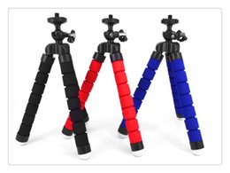Discount cell phone flexible - SZQY Tripods Flexible Tripod Holder For Cell Phone Car Camera Gopro Universal Mini Octopus Sponge Stand Bracket