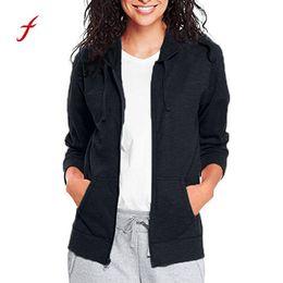 $enCountryForm.capitalKeyWord Australia - Feitong jacket Women Classic Slim Long Sleeve Full Zip Hoodie Thin Jacket clothes black women plus size harajuku riverdal