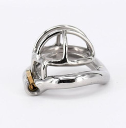 Men bdsM toys online shopping - Stainless Steel Male Chastity device Adult Cock Cage With arc shaped Cock Ring BDSM Sex Toy Bondage Men Chastity Belt