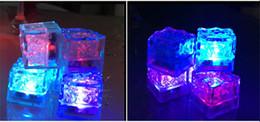 $enCountryForm.capitalKeyWord Australia - Wholesale flashing Ice Cube LED Fluorescent Light Artificial Induction Block For Wedding Party Decor Colorful ice induction lamp 2018
