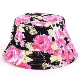 36390d05096cef White Bucket Hats NZ - 24 color New Fashion Ladies Summer floral Sun Hat  Flower Canvas