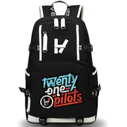 leisure outdoor sports canvas bag UK - Twenty One pilots backpack Cool 21 day pack Rock band school bag Leisure packsack Quality rucksack Sport schoolbag Outdoor daypack