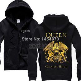 $enCountryForm.capitalKeyWord Australia - 2 colours Britain Queen Band Cotton Zipper Sweatshirt fleece Rock Hoodies Winter jacket sudadera punk heavy metal lion eagle