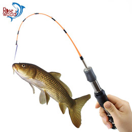 Fish Poles NZ - RoseWood Winter Fishing Insert Section Camouflage Ice Fishing Rod Pole Portable Rods Spinning Mini Pole Fishing Tackle