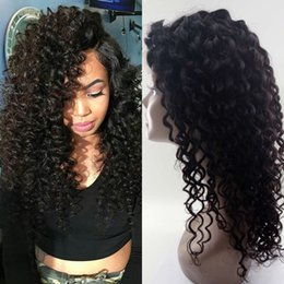 human hair glueless silk top 2019 - Cambodian Deep Wave Human Hair Wigs Pre Plucked Silk Top Full Lace Wigs Glueless Curly Silk Base Lace Wig FDshine cheap