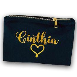 $enCountryForm.capitalKeyWord Australia - Bride Gift makeup bag Canvas cosmetic bag Gifts for bridesmaid Wedding gifts blank cotton clutch bag Zipper pouches