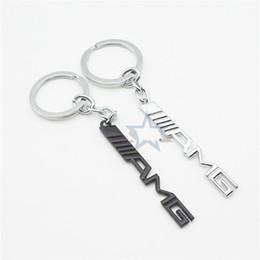 car letter badges 2018 - Bardian AMG English Letter Badge Car Key Ring Electroplate Cool Popular Design Keys Buckle For Men Fun Keychain 4zy dd c