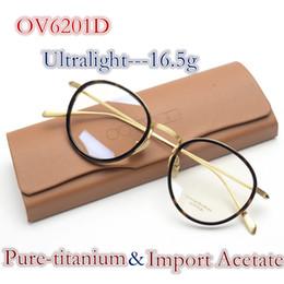 Vintage Retro Oliver povos OV6201D óculos pure-titanium acetato quadro mulheres  homem marca design caixa 1d82f04851