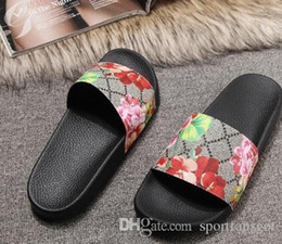 women flat heel flower sandals NZ - size 35-46 Men Women Sandals with Correct Flower Box Dust Bag Designer Shoes snake print Luxury Slide Summer Wide Flat Sandals Slipper