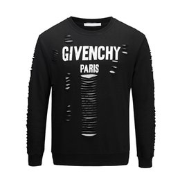 Wholesale HUY latest design fashion European and American men s high quality hole cotton T shirt casual sweater women s T shirt giv t shirt
