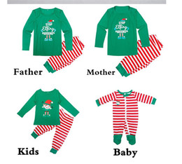9884a9bdfd Christmas Kids Adults Family Matching Striped Pajamas Set Nightwear Xmas  Parents-Child Pyjamas Bedgown Nightwear 2pcs Outfit Homewear