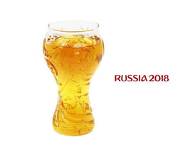 Champagne Coupes Australia - 400ml Glass Beer Steins Russia 2018 World Cup Emblem Beer Mugs Cups Creative Clear Wine Drink Vodka Glass Party Bar Drinkware