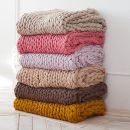 king arms 2019 - Blanket Large Size Knit Blanket Giant Throw Super Big Bulky Arm Knitting Home Decor Birthday Gift cheap king arms