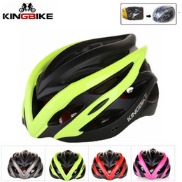 Road Bicycle Safety NZ - kingbike Safety helmet mtb 2018 women integrally-molded Breathable Comfortable cycling helmet road man mtb bicycle