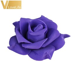 $enCountryForm.capitalKeyWord NZ - 100pcs Artificial 8cm PE Foam Rose Flower Heads Wedding Bouquet Party Home Decorative Car DIY Valentine's day Fake Flower Decor