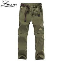 Lightweight cargo pants men online shopping - LOMAIYI Plus Size L XL Removable Men s Summer Cargo Pants Men Breathable Quick Dry Trousers Male Khaki Casual pants AM209