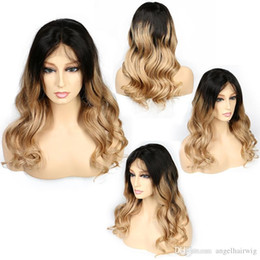$enCountryForm.capitalKeyWord Australia - Glueless Lace Front Human Hair Wigs Ombre 1bT27 Body Wavy 150 Density Natural Wave Malaysian Virgin Hair Full Lace With Baby Hair