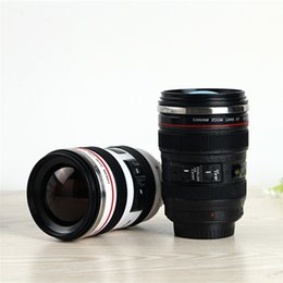 Chinese  Novelty Camera MUG SLR Camera Lens Cup 24-105mmScale Stainless Steel Coffee Photo Cup MUGs 400ML Water Office Bottle manufacturers
