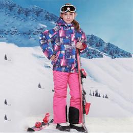 $enCountryForm.capitalKeyWord Canada - Wholesale- Kids Winter Children Clothing Girls Skiing Jackets+Pants for Girls Waterproof Windproof Ski Jacket Coat Kids' Snow Down Coats