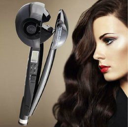 CeramiC hair Curling wands online shopping - Hair Curler Upgraded Professional curling wands Curl Secret Hair Styler Best Steam Curling Iron Auto Rotating Electric Hair Curler
