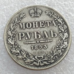 Russia Coin Australia - wholesale 1853 Russia 1 Rouble coins copy manufacturing silver-plated