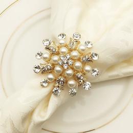 $enCountryForm.capitalKeyWord NZ - 10pcs lot Hotel Napkin Ring Napkin Holder Round Flower Pearl Buckle Christmas Wedding Party Circle Decoration