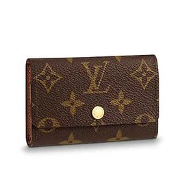 Cotton Key Australia - 2019 M62630 6 KEY HOLDER old flower brown Real Caviar Lambskin Chain Flap Bag LONG CHAIN WALLETS KEY CARD HOLDERS PURSE CLUTCHES EVENING