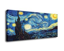 $enCountryForm.capitalKeyWord UK - Cartoon Art Van Gogh Starry Night,Oil Painting Reproduction High Quality Giclee Print on Canvas Modern Home Art Decor E072