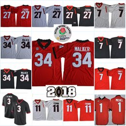 8cc15c0fb Men NCAA Georgia Bulldogs Jake Fromm College Football Jerseys Nick Chubb  Herchel Walker Sony Michel Roquan Smith Georgiadogs Jersey S-3XL