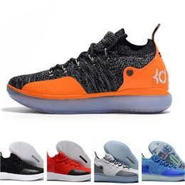 best website e82b4 13dab 2019 New KD 11 Basketball Shoes Black Grey Persian Violet Chlorine Blue  Sneakers Kevin Durant 11s Designer Shoes Mens Trainers Shoe With Box