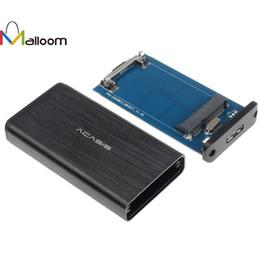 msata ssd case 2019 - Malloom 2018 New Arrival Sabrent Mini PC Accessories USB 3.0 MSATA II or III 6G SSD Hard Drive Case Enclosure Adapter+To
