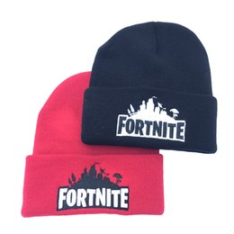 Wholesale beanie embroidery online shopping - Fortnite Battle Knitted Hat Colors Hip Hop Embroidery Knitted Costume Cap Winter Soft Warm Skuilles Beanies OOA5513