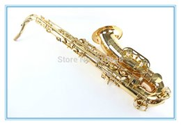 Discount bb tenor saxophone - Selma STS-R54 Brand Saxophone Bb Tenor B Flat Gold Lacquer Surface High Quality Brass Sax Musical Instrument With Case