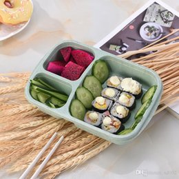 $enCountryForm.capitalKeyWord Australia - 3 Grid Lunch Meal Box Microwave Wheat Straw Fruit Food Storage Container Portable Outdoor Travel Picnic Bento Boxes Eco Friendly 3 2hx KK