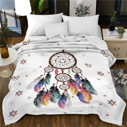 Discount 3d christmas bedding - 150x200cm bedspread blanket High Density Super Soft 3D Flannel blankets christmas decorations for home beds throw blanke