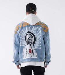 889a290f72d1 018 marchio di tendenza europeo e americano primavera e autunno nuovi uomini  di abbigliamento dipinto a mano da donna di pittura a olio Saint giacca da  uomo ...
