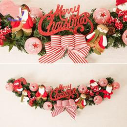 christmas ornament wreath 2019 - New 10PC Christmas Wreaths Red Ornament Felt Hanging Pendant Chrismas Home Decor Embellishment Xmas Decoration Navidad 2