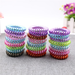 $enCountryForm.capitalKeyWord UK - High Quality Telephone Wire Cord Gum Hair Tie Girls Elastic Hair Band Ring Rope Candy Color Bracelet Stretchy Scrunchy Mixed color