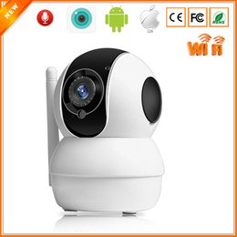 tilt monitor UK - Smart Mini Pan Tilt IP Cameras WiFi 720P Indoor Dome Camera IP Wireless Two Way Audio Motion Alarm IR Night Baby Monitor