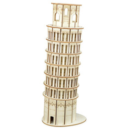 laser cutting kit Australia - Nulong Laser Cutting 3D Wooden Puzzle 3D wood Jigsaw Puzzle Woodcraft Assembly Kit - The Leaning Tower of Pisa with 105 parts